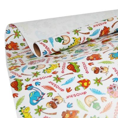 """Бумага оберточная """"Динозаврики"""" для упаковки подарков"""
