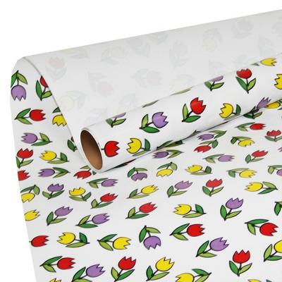 """Бумага оберточная """"Тюльпаны"""" для упаковки подарков"""
