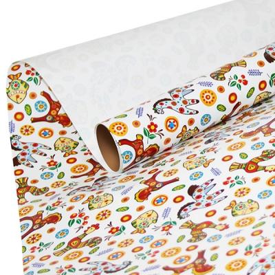 """Бумага оберточная """"Свистульки"""" для упаковки подарков"""