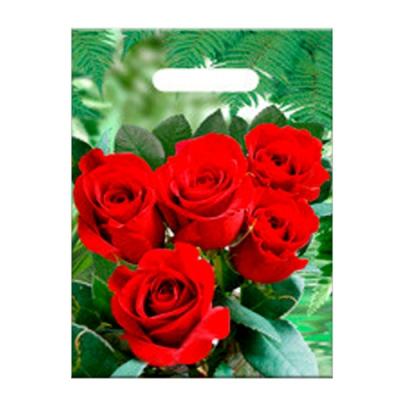 """Пакет Розы"""" 30х40, 40 мкм"""
