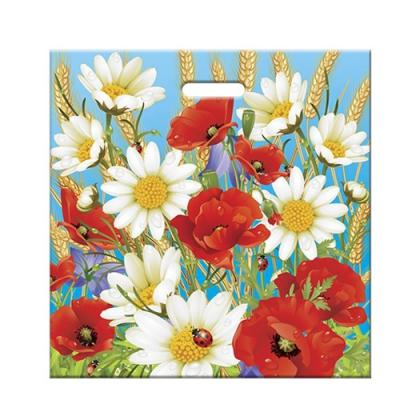 """Пакет """"Полевые цветы"""" 45х45, 70 мкм"""