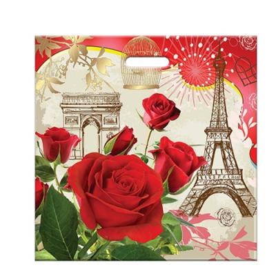 """Пакет """"Розы Парижа"""" 45х45, 70 мкм"""
