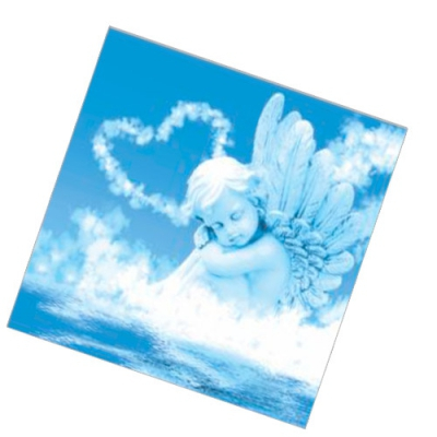 """Салфетки бумажные 2 сл., 33x33, """"Ангел любви"""", 20шт."""