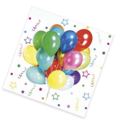 Салфетки бумажные 3сл., 33x33, «Веселый праздник», 12шт.