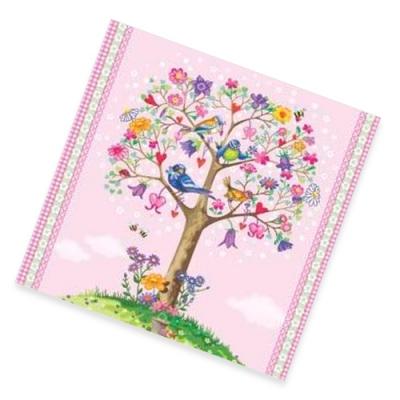 """Салфетки бумажные 2сл., 33x33, """"Дерево любви"""", 20шт."""
