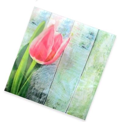 """Салфетки бумажные 2сл., 33х33, """"Розовый тюльпан"""", 20шт."""