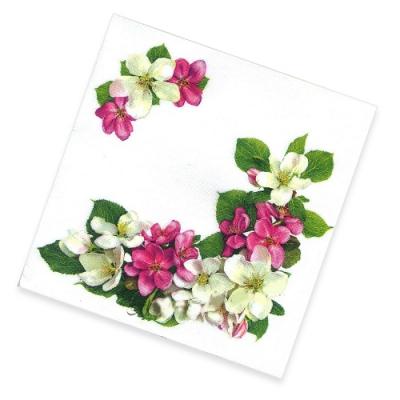 """Салфетки бумажные 2сл., 33х33, """"Яблоневый цветок"""", 20шт."""