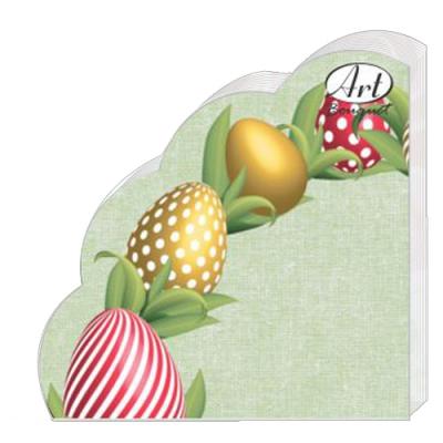 """Салфетки бумажные 3сл., 33x33,Rondo """"Декоративные яйца """", 12 шт."""