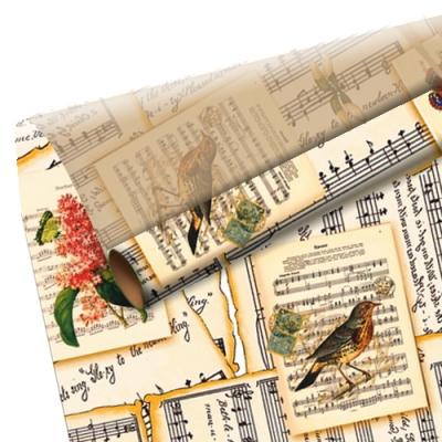 """Бумага оберточная """"Нотная тетрадь"""" для упаковки подарков"""