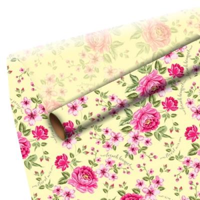 """Бумага оберточная """"Розы"""" для упаковки подарков"""