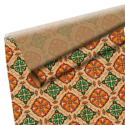 "Оберточная крафт-бумага ""Панно"", подарочная бумага для упаковки подарков"