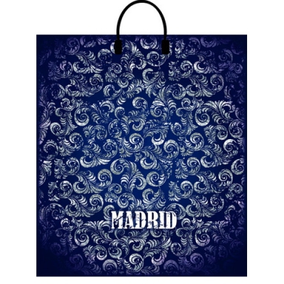 """Полиэтиленовый подарочный пакет """"Мадрид""""  400х440 мм, 100 мкм, с пластиковыми ручками"""