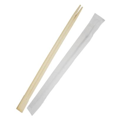 Палочки для еды в индивидуальной упаковке сдвоенные, 23 см