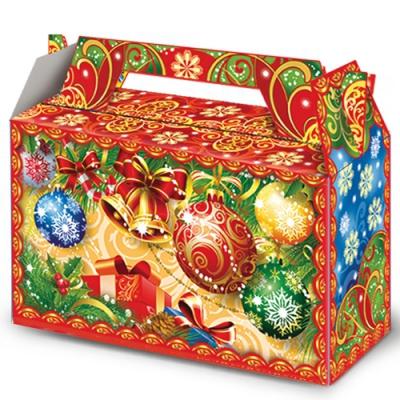 """Новогодняя упаковка """"Шарики"""" 500 гр,  картонная подарочная коробка"""