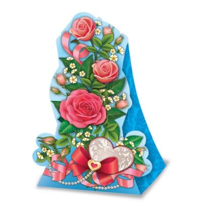 """Подарочная упаковка """"Розы"""" картонная коробка"""