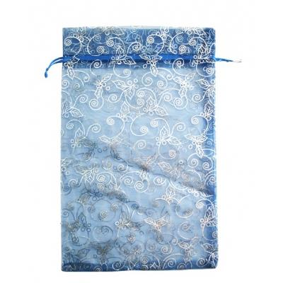 Подарочный мешок из органзы Синий 350х250мм