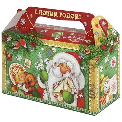 """Подарочная упаковка """"Ретро 0.5"""", 500 гр, новогодняя упаковка для конфет, детских подарков"""