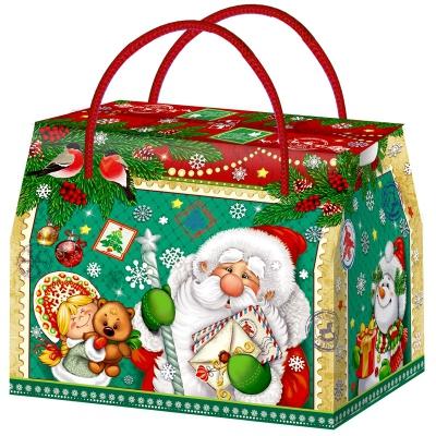 """Подарочная коробка """"Поле чудес"""", 800 гр, картонная новогодняя упаковка для конфет, подарков"""