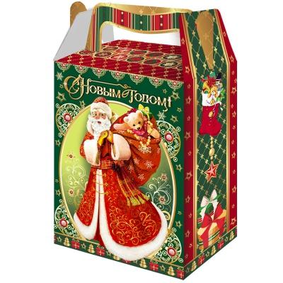 """Новогодняя упаковка """"Мешок подарков"""", 1000 гр, картонная подарочная коробка для конфет, детских подарков"""