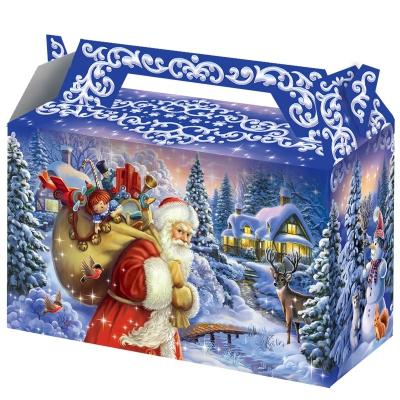 """Подарочная коробка """"Традиция 0.5"""" 500 гр, картонная новогодняя упаковка для подарков, конфет"""