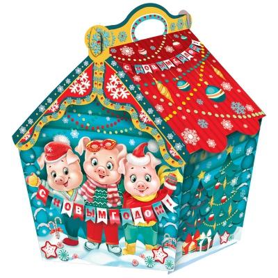 Новогодняя подарочная коробка «Избушка символ 1.5» 1500 гр, новогодняя упаковка