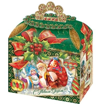 Новогодняя упаковка «Ретро NEW» 1200 гр, картонная подарочная коробка для конфет