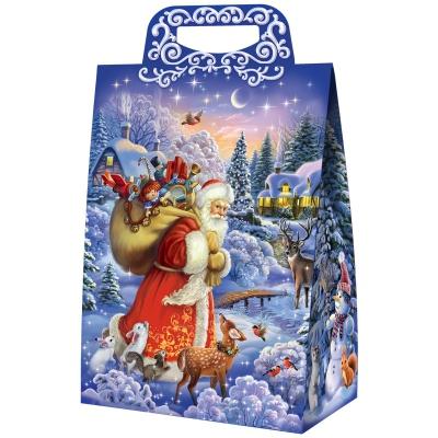 """Новогодняя упаковка """"Вечерок"""", 2000 гр, картонная подарочная коробка для конфет"""