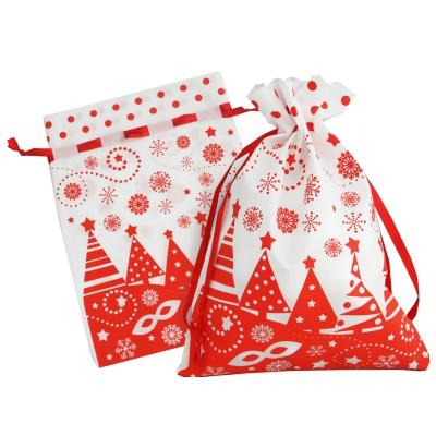 Подарочный мешок «Ёлочки» 1300 гр, текстильная новогодняя упаковка для подарков, конфет