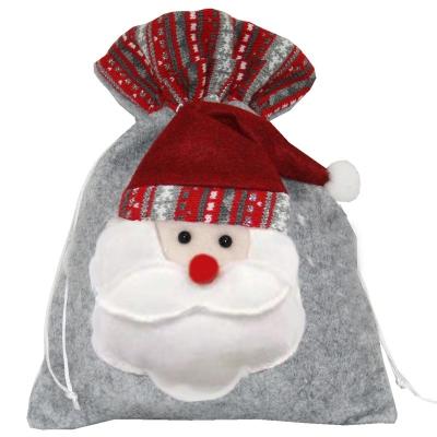 """Подарочный мешок """"Санта"""" 1700 гр, текстильная новогодняя упаковка"""