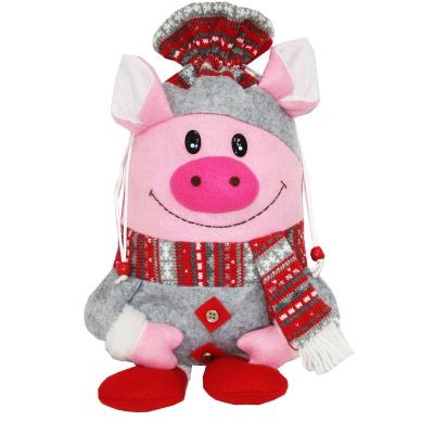 """Подарочный мешок """"Франт"""" 1700 гр, текстильная новогодняя упаковка 2019 год свиньи"""