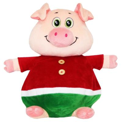 """Мягкая игрушка - конфетница """"Плюшкин"""", текстильная новогодняя упаковка 2019 год свиньи"""