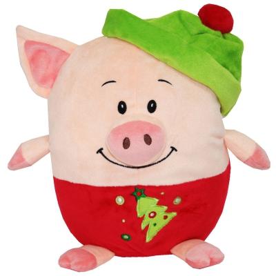 """Подарочная мягкая игрушка-конфетница """"Пуфик"""", текстильная новогодняя упаковка 2019 год свиньи"""