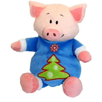 """Мягкая игрушка конфетница """"Чудик"""" 700 гр, текстильная новогодняя упаковка 2019 год свиньи"""