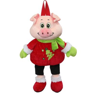 """Детский рюкзак """"Модник"""" 1200 гр, свинка, текстильная новогодняя упаковка 2019 год свиньи"""