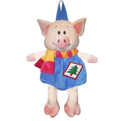 """Детский подарочный рюкзак """"Гарри"""" 1200 гр, текстильная новогодняя упаковка 2019 год свиньи"""