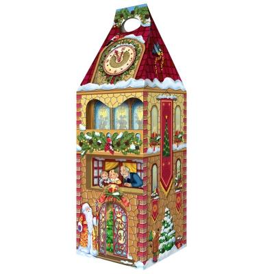 Новогодняя упаковка «Башня-Новогодняя» 1600 гр, картонаня подарочная коробка для конфет