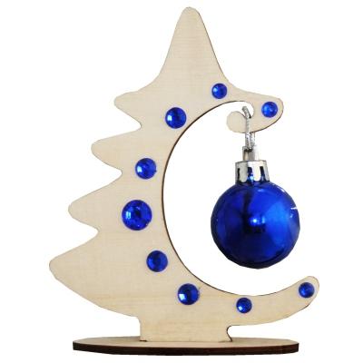 Сувенир Ёлочка-Полумесяц, синий, декоративная елочка