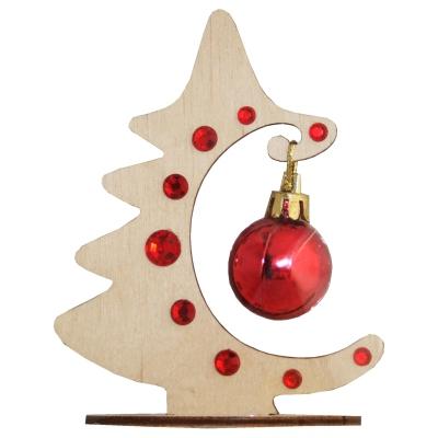 Сувенир Ёлочка-Полумесяц, красный, декоративная елочка