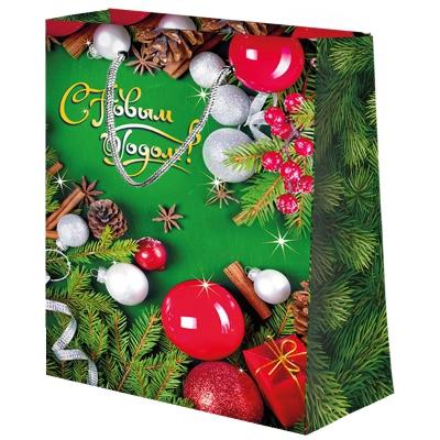"""Новогодний подарочный пакет """"Настроение"""" SM, новогодняя упаковка для подарков"""