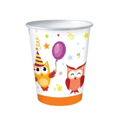 """Одноразовые бумажные стаканы """"Совушки"""", 250мл"""