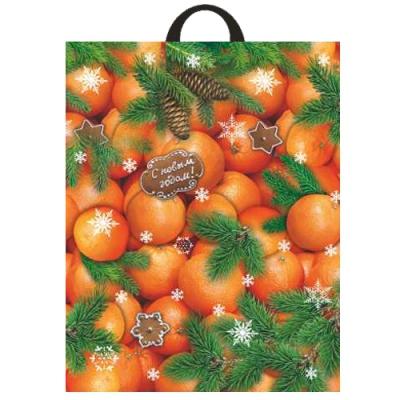 Подарочный новогодний пакет Десерт 28х35 см, 55 мкм | подарочная новогодняя упаковка