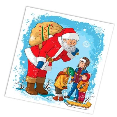 """Салфетки бумажные 2сл., 33x33, """"Дядя Степа-Дед Мороз"""", 20шт."""