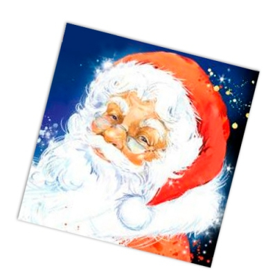 "Салфетки бумажные 2сл., 33x33, ""Добрый Дед Мороз"", 20шт."