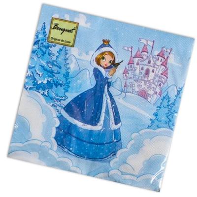 """Салфетки бумажные 2сл., 33x33, """"Новогодняя фея"""", 20шт."""