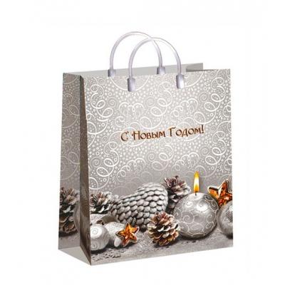 Новогодний подарочный пакет Изморозь, 230х270 мм, 150 мкм, новогодняя упаковка