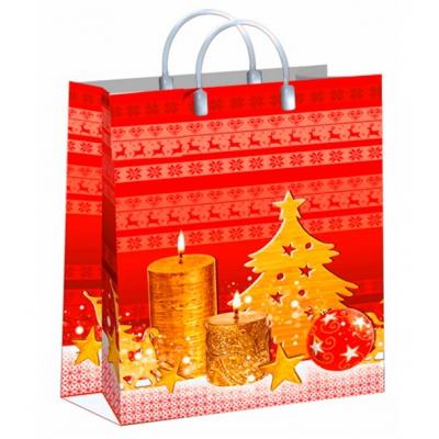 Пакет новогодний Сезон подарков, 30х40 см, 150 мкм