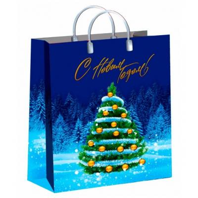 Пакет новогодний Главная елка, 30х40 см, 150 мкм