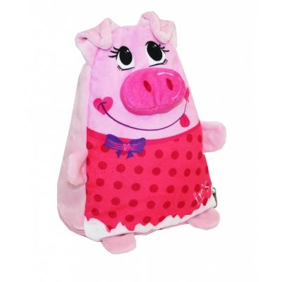 """Новогодняя упаковка """"Хрюшка-пампушка"""", 1200 гр, мягкая игрушка свинка, символ 2019 года"""