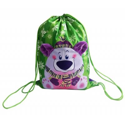 """Подарочная упаковка-мешок """"Мишка-милашка"""", 3000 гр, текстильная новогодняя упаковка"""