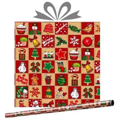 """Бумага оберточная новогодняя """"Праздничный базар"""" для упаковки подарков"""